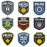 Remiendos de la policía Imagen de archivo libre de regalías