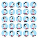 El sistema de avatares con imita a Faces Foto de archivo libre de regalías