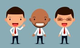 El sistema de caracteres del hombre de negocios presenta, oficinista, forma Imagen de archivo libre de regalías