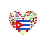 El sistema de Cuba ilustración del vector