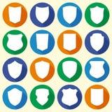 El sistema de diverso escudo forma iconos libre illustration
