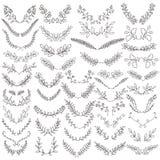 El sistema de elementos dibujados mano de la circular del vector Imagen de archivo libre de regalías