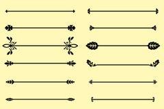 El sistema de elementos, de la frontera y de la página decorativos gobierna el marco ilustración del vector