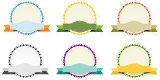 El sistema de etiqueta en blanco del círculo Imagen de archivo