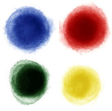 El sistema de etiquetas de la acuarela diseña los elementos, illust del vector de la acuarela Fotografía de archivo