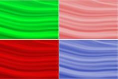 El sistema de fondo ondulado del papel pintado cuatro texturiza color rosado y azul rojo verde stock de ilustración