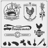 El sistema de granjeros comercializa emblemas, logotipos y etiquetas Ilustración del vector libre illustration