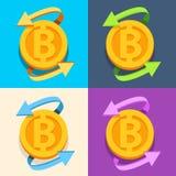El sistema de iconos acuña con la inscripción B Imágenes de archivo libres de regalías