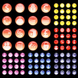 El sistema de iconos en diversos colores del ` s del banco se opone Imagen de archivo libre de regalías