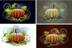 Sistema de la calabaza de Halloween Fotografía de archivo libre de regalías