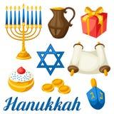 El sistema de la celebración judía de Jánuca se opone y los iconos