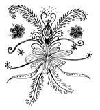 El sistema de la flor garabatea la flor Fotos de archivo libres de regalías