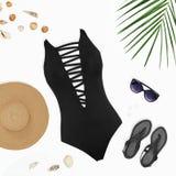 El sistema de la hembra de verano brillante viste para la playa Fotos de archivo