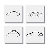 El sistema de la línea coche del logotipo diseña - vector los iconos Imagen de archivo libre de regalías