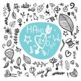 El sistema de la mano del vintage dibujado florece el vintage stock de ilustración