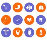 El sistema de la medicina Fotos de archivo