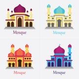 el sistema de la mezquita islámica/de Masjid para los musulmanes ruega el icono Fotos de archivo libres de regalías