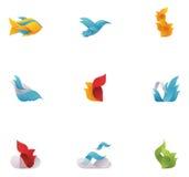Elementos abstractos de la naturaleza del vector stock de ilustración