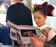 El sistema de la realidad de Florencia de China era es nosotros que iban, papá Imagenes de archivo