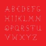 El sistema de la tarjeta del día de San Valentín del alfabeto Fotografía de archivo libre de regalías
