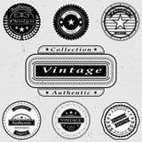 El sistema de logotipos del vintage Fotografía de archivo