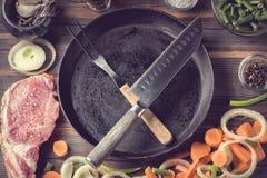 El sistema de los productos para cocinar la ternera de la carne del filete del cerdo desecha el filete de carne de vaca imagenes de archivo