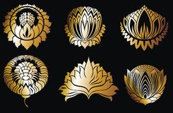 El sistema de lujo del logotipo, mejor seleccionó la colección Foto de archivo libre de regalías