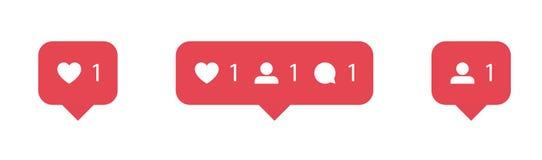 El sistema de medios iconos sociales inspir? por Instagram: como, seguidor, comentario, hogar, c?mara, usuario, b?squeda Ejemplo  stock de ilustración
