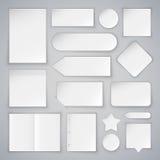 El sistema de mofa de las hojas del Libro Blanco sube y las banderas Fotos de archivo