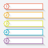 El sistema de 5 numeró los jefes de papel del estilo con la estrella stock de ilustración