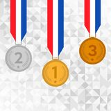 El sistema de oro, la plata y el bronce conceden las medallas libre illustration