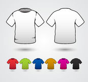 El sistema de plantillas coloreó las camisetas Fotografía de archivo