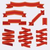 El sistema de plantillas de la cinta de la bandera del vintage fijó el icono del vector libre illustration