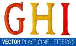 El sistema de plasticine pone letras a alfabeto inglés Foto de archivo