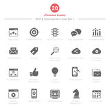 El sistema de SEO y de iconos del desarrollo fijó 1 Imagenes de archivo