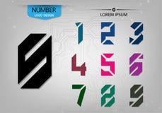 El sistema de tecnología de los números abstractos es una variedad colorida Imágenes de archivo libres de regalías