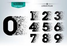 El sistema de tecnología de los números con estalla el carácter de la extensión Fotos de archivo libres de regalías