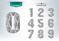 El sistema de tecnología de los números es una textura de aluminio Fotografía de archivo