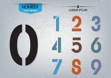 El sistema de tecnología de los números es una variedad colorida en el fondo abstracto Fotografía de archivo