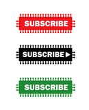 El sistema de tres suscribe vector de los botones libre illustration