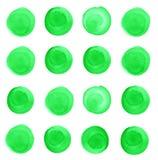 El sistema de verde de la primavera de la acuarela, malaquita circunda stock de ilustración