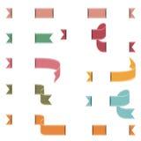 El sistema de vintage colorea banderas ilustración del vector