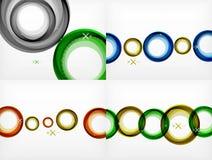 El sistema de volar los contextos abstractos de los círculos, vector los fondos geométricos, burbujas de aire del color, plantill Foto de archivo libre de regalías