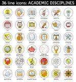 El sistema del academic disciplina iconos Fotos de archivo libres de regalías