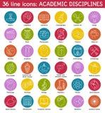 El sistema del academic disciplina iconos Foto de archivo