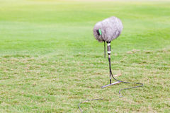 El sistema del auge de micrófono grande con el parabrisas para el deporte vivo Imagen de archivo libre de regalías