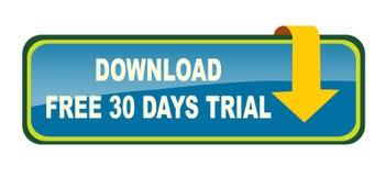 El sistema del botón de la transferencia directa en el fondo blanco libera 30 días libre illustration