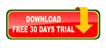 El sistema del botón de la transferencia directa en el fondo blanco libera 30 días stock de ilustración
