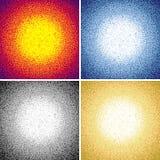 El sistema del círculo brillante de la Navidad modela fondos Colección de círculo Dots Backgrounds de la pendiente del Año Nuevo  Foto de archivo