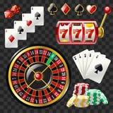 El sistema del casino se opone - el clip art realista del vector moderno libre illustration